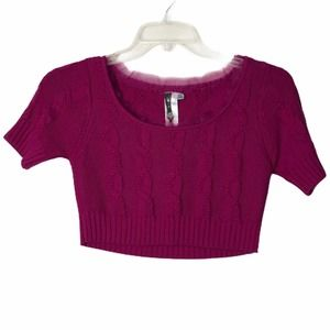 Forever 21 Crop Knit Pink Top  S/P